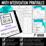 Math Intervention 1st Grade Binder | A YEAR LONG RTI PROGRAM BUNDLE