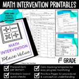 Math Intervention 1st Grade Binder YEARLONG RTI BUNDLE Dis