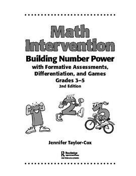 Math Intervention 3–5: Building Number Power with Formative Assessments,