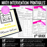 Math Intervention 8th Grade Binder YEARLONG RTI Bundle DIS
