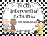 Math Intervention Activities (and Lesson Plans)