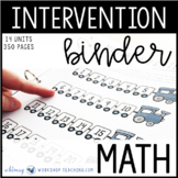 Math Intervention Binder - First Grade Math Full Year Assessment + Intervention