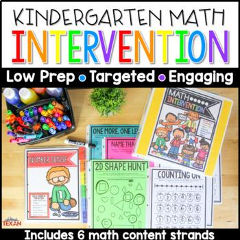 No Prep Math Intervention Binder Activities
