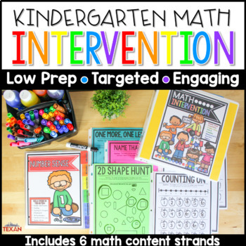 Distance Learning No Prep Math Intervention Binder Activities