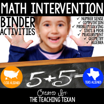 Math Intervention Binder Activities