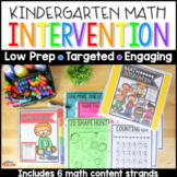 No Prep Math Intervention Binder Activities