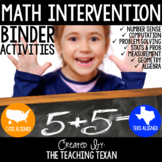 Math Intervention Binder - No Prep