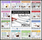 Math Intervention Binder and Daily Math Paperless Warm-Ups BUNDLE
