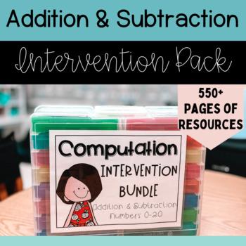 Math Intervention Bundle - Computation 0-20