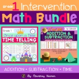 Math Intervention Bundle for Grade 1 {Addition, Subtraction & Telling Time}