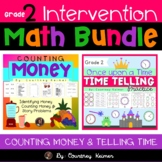 Math Intervention Bundle for Grade 2 {Time & Money}