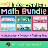 Math Intervention Bundle for Third Grade {Multiplication, Division & Time}