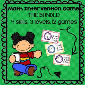 Math Intervention Games--The BUNDLE