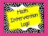 Math Intervention Logs ( IEP / RTI / 504 data collection!)