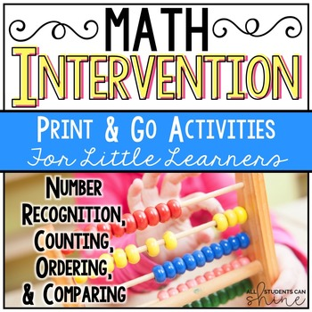 Math Intervention NO PREP