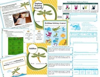 Math Intervention Problem-Solving Unit {Daphne Drawing Dragonfly}
