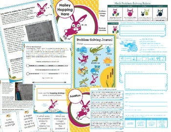 Math Intervention Problem-Solving Unit {Hailey Hopping Hare}