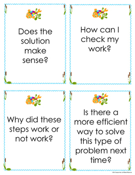 Math Intervention Problem-Solving Journal