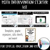 Math Intervention Bundle   Starter Kit   Special Education