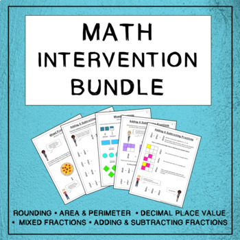 Math Intervention and Skill Review Bundle