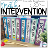 Math Intervention for Special Education, RTI, & Tier 3 Int