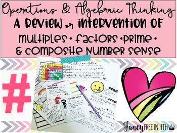 Math Intervention of Factors,Multiples,Prime & Composite Numbers