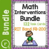 Standardized Math Test Prep Task Cards Maps RIT Band 191-200 Intervention Bundle