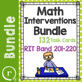 Standardized Math Test Prep Task Cards Maps RIT Band 201-2