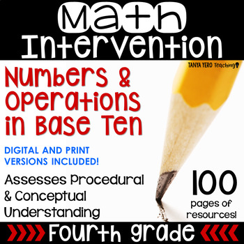 4th Grade Math Intervention Pack Place Value/ Numbers  RTI