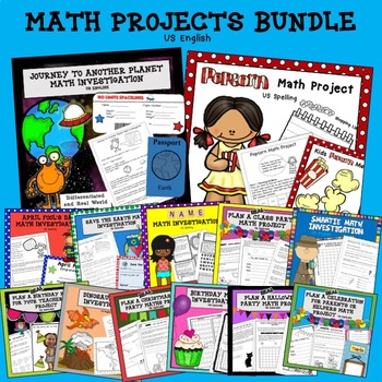 Math Project Bundle US