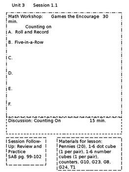Math Investigations 3 Unit 3 Editable Lesson Plans