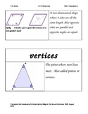 Math Investigations First Grade Unit 2 Vocabulary Cards