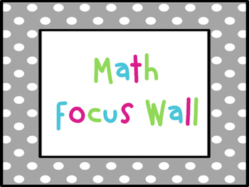 Math Investigations Focus Wall Bundle