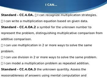 Math Investigations ~ Unit 1 Fourth Grade: Arrays, Factors & Multiples