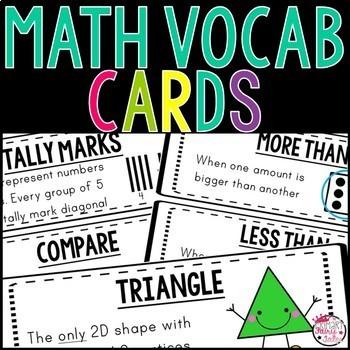 Math Word Wall: Grades K-2