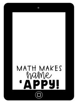 Math Ipad Craftivity - Editable