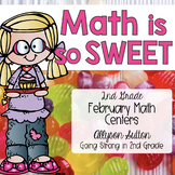 Math Is So Sweet 2nd Grade February Math Centers