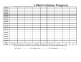 Math Istation Progress Tracking Sheet