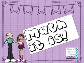Math It Is