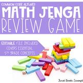 Math Jenga - 5th Grade