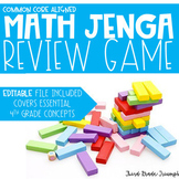 Math Jenga - 4th Grade