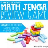 Math Jenga - 4th Grade