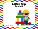 Math Jenga - Addition Facts to 20