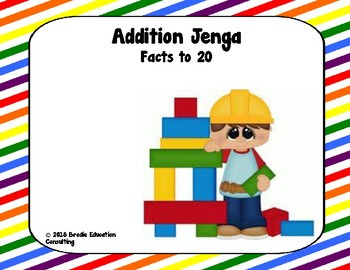 Math Jenga - Addition Facts to 20