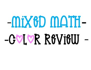 Math (Jenga/Color) Review