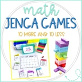 Math Jenga Game Cards for 10 More 10 Less