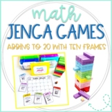 Math Jenga Game Cards for Adding to 20 with Ten Frames