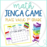 Math Jenga Game Cards for 1st Grade Place Value and Number Sense