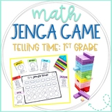 Math Jenga Game Cards for 1st Grade Telling Time