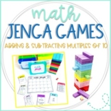 Math Jenga Game Cards for Adding and Subtracting Multiples of 10